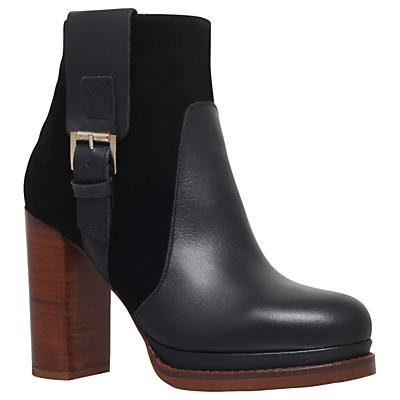 KG by Kurt Geiger Sibling Block Heeled Ankle Boots, Black