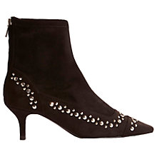 Buy Karen Millen Studded Kitten Heeled Boots, Black Online at johnlewis.com