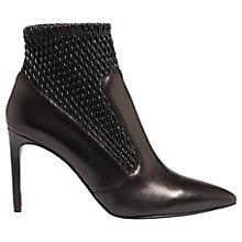 Buy Karen Millen Textured Stiletto Heeled Ankle Boots, Black Online at johnlewis.com