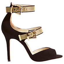 Buy Karen Millen Buckle Strap Stiletto Heeled Sandals, Black Online at johnlewis.com
