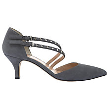 Buy Mint Velvet Georgie Pointed Toe Court Shoes, Dark Grey Online at johnlewis.com
