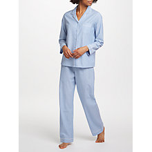 Buy John Lewis Chambray Stripe Pyjama Set, Blue Online at johnlewis.com