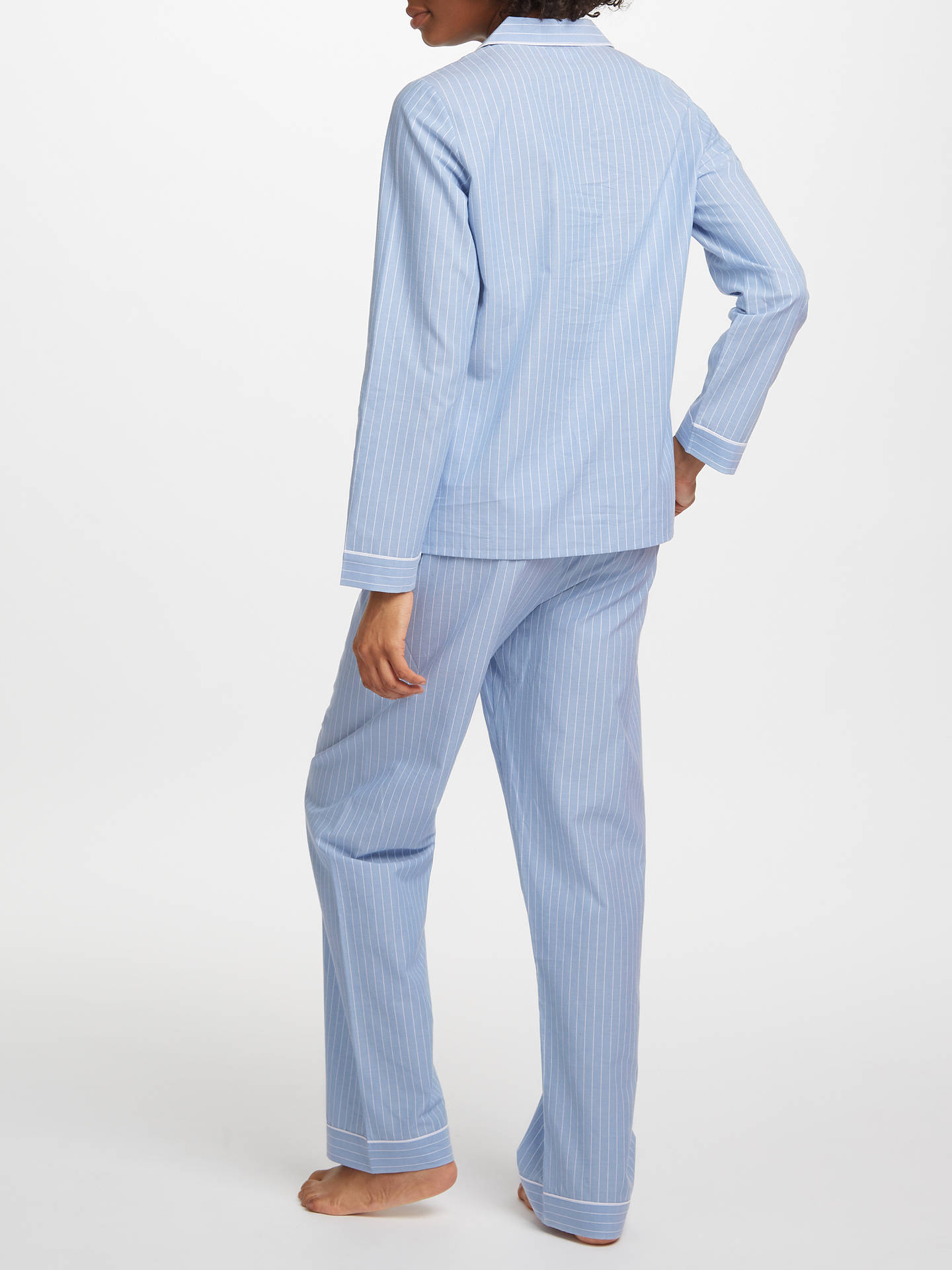 Buy John Lewis & Partners Chambray Stripe Pyjama Set, Blue, 8 Online at johnlewis.com