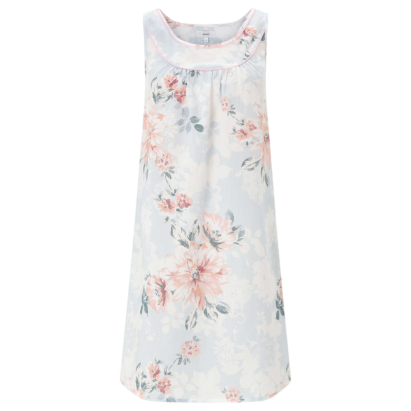 BuyJohn Lewis Cassie Floral Print Chemise, Blue/Pink, 8 Online at johnlewis.com