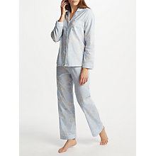 Buy John Lewis Inga Floral Print Pyjama Set, Blue/Multi Online at johnlewis.com