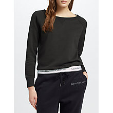 Buy Calvin Klein Logo Band Sweat Top, Black Online at johnlewis.com