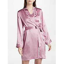 Buy John Lewis Silk Dressing Gown, Mauve Online at johnlewis.com