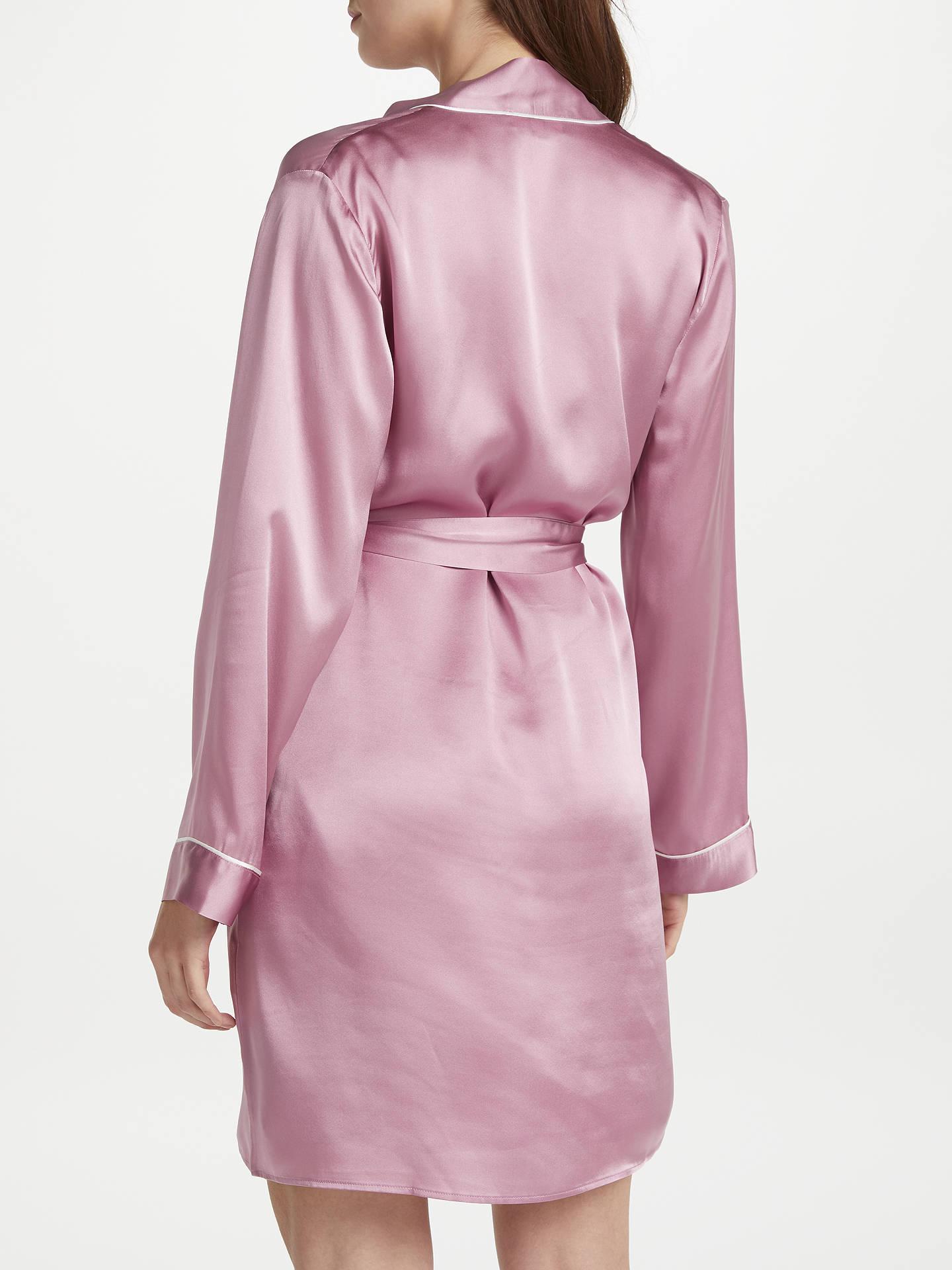 John Lewis Silk Dressing Gown, Mauve at John Lewis & Partners