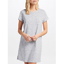 Buy John Lewis Pixie Cat Short Sleeve T-Shirt Nightdress, Grey Online at johnlewis.com