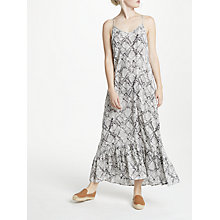 Buy John Lewis Mojave Snake Crinkle Tiered Dress, Multi Online at johnlewis.com