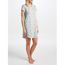 Buy John Lewis Daisy Print Short Sleeve Nightdress, Grey/Ivory Online at johnlewis.com