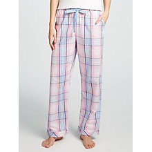 Buy John Lewis Natalie Check Print Pyjama Bottoms, Pink/Blue Online at johnlewis.com