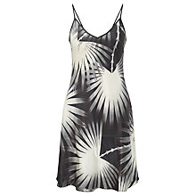 Buy Somerset by Alice Temperley Palm Print Silk Chemise, Black/Ivory Online at johnlewis.com