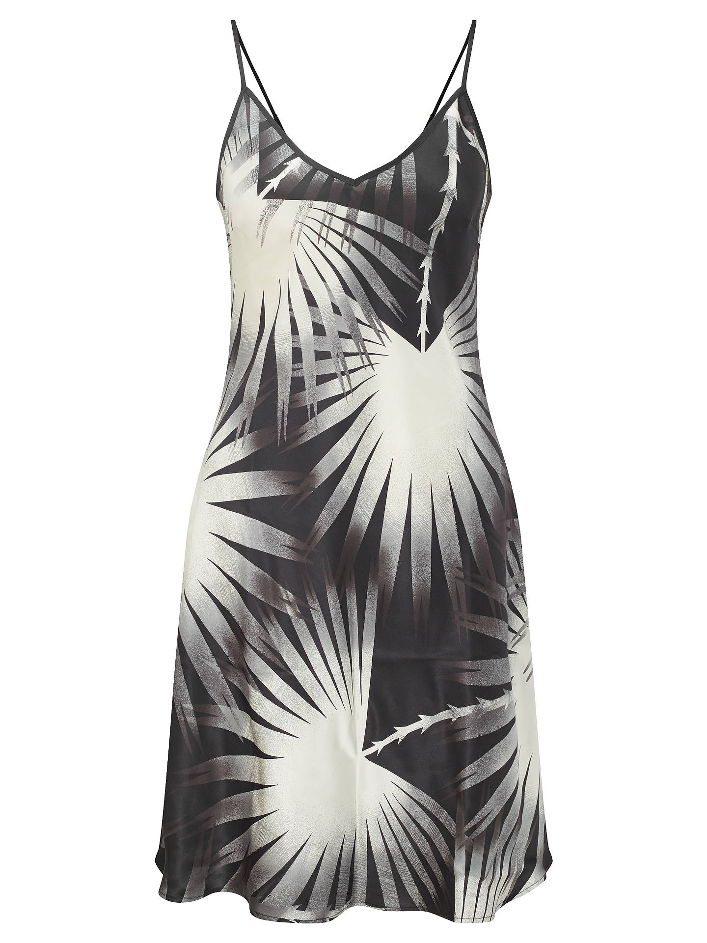 BuySomerset by Alice Temperley Palm Print Silk Chemise, Black/Ivory, S Online at johnlewis.com