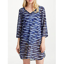 Buy John Lewis V-Neck Wavy Ikat Kaftan, Blue Online at johnlewis.com