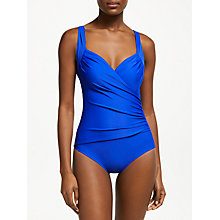 Buy John Lewis Control Cross Front Swimsuit, Cobalt Online at johnlewis.com