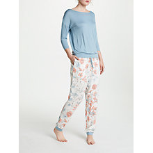 Buy John Lewis Pippa 3/4 Sleeve Jersey Pyjama Set, Aqua/Ivory Online at johnlewis.com