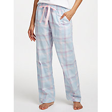 Buy John Lewis Alex Check Print Pyjama Bottoms, Blue/Pink Online at johnlewis.com