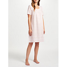Buy John Lewis Broderie Anglaise Nightdress, Pink Online at johnlewis.com