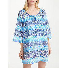 Buy John Lewis Ombre Tile Print Cotton Voile Kaftan, Blue/Multi Online at johnlewis.com