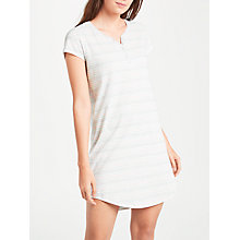 Buy John Lewis Lydia Striped Nightdress, Ivory/Grey Online at johnlewis.com