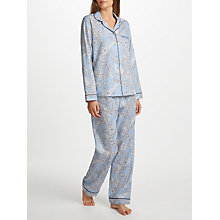 Buy John Lewis Martha Floral Print Pyjama Set, Blue/Ivory Online at johnlewis.com
