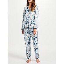 Buy John Lewis Irina Floral Stripe Pyjama Set, Navy/Multi Online at johnlewis.com