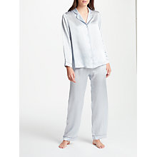 Buy John Lewis Silk Pyjama Set, Silver Blue Online at johnlewis.com