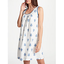 Buy Cyberjammies Lara Floral Print Chemise, White/Blue Online at johnlewis.com