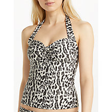 Buy John Lewis Sinai Leopard Tie Tankini Top, Multi Online at johnlewis.com