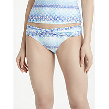 Buy John Lewis Ombre Tile Print Twist Front Bikini Briefs, Blue Online at johnlewis.com