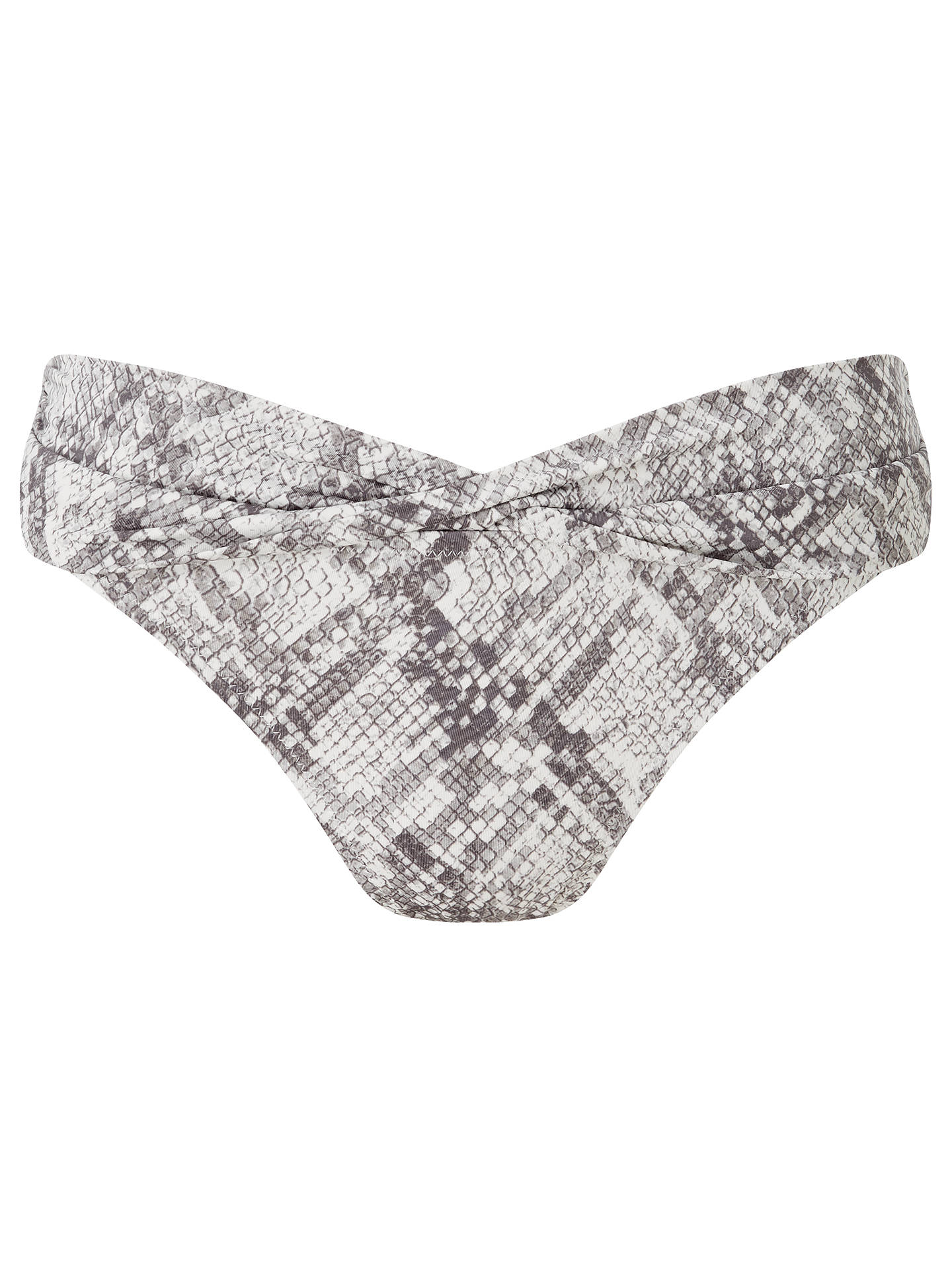 BuyJohn Lewis Mojave Snake Print Twist Front Bikini Briefs, Neutral, 8 Online at johnlewis.com