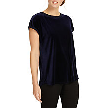 Buy Phase Eight Addison Velvet T-Shirt, Midnight Online at johnlewis.com