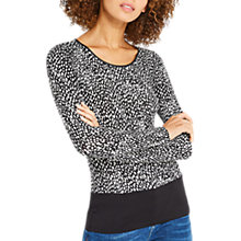 Buy Oasis Abstract Animal Print Round Neck Top, Multi/Black Online at johnlewis.com