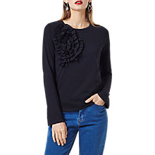 Buy Finery Benhill Corsage T-Shirt, Black Online at johnlewis.com