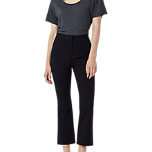 Buy Finery Kirby Kick Flare Trousers, Black Online at johnlewis.com