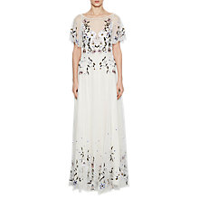 Buy French Connection Lucille Embroidered Dress, Daisy White Online at johnlewis.com