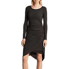 Buy AllSaints Duna Dress, Graphite Online at johnlewis.com