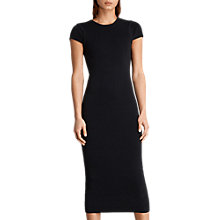 Buy AllSaints Anya Long Midi Dress, Ink Blue Online at johnlewis.com