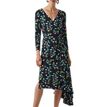 Buy Finery Ebor Printed Jersey Wrap Dress, Black Online at johnlewis.com