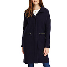 Buy Phase Eight Katie Funnel Neck Coat, Navy Online at johnlewis.com