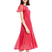 Buy Oasis Spot Mesh Midi Dress, Mid Pink Online at johnlewis.com