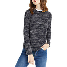 Buy Oasis Tweed Pie Crust Jumper, Navy Online at johnlewis.com