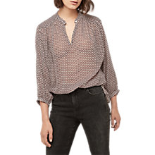 Buy Gerard Darel Banksia Blouse, Purple/Neutral Online at johnlewis.com