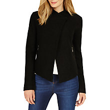 Buy Phase Eight Rosanna Zip Jacket, Black Online at johnlewis.com