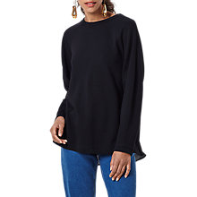 Buy Finery Dutton Tie Back Sweatshirt, Black Online at johnlewis.com