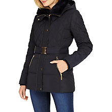 Buy Phase Eight Deasia Short Diamond Puffer Jacket, Navy Online at johnlewis.com