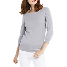 Buy Oasis Textured Knit Jumper, Mid Grey Online at johnlewis.com