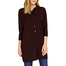 Buy Phase Eight Geovana Oversized Shirt, Merlot Online at johnlewis.com