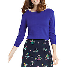 Buy Oasis Textured Jumper, Rich Blue Online at johnlewis.com